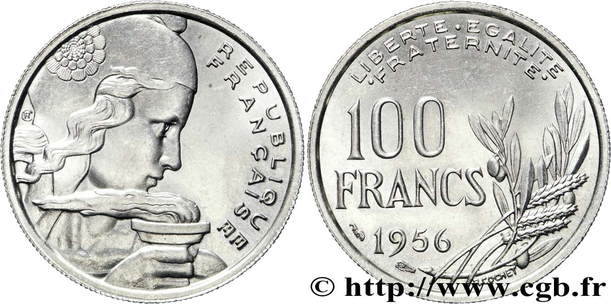 100 francs Cochet 1956 Paris F.450/8 SPL