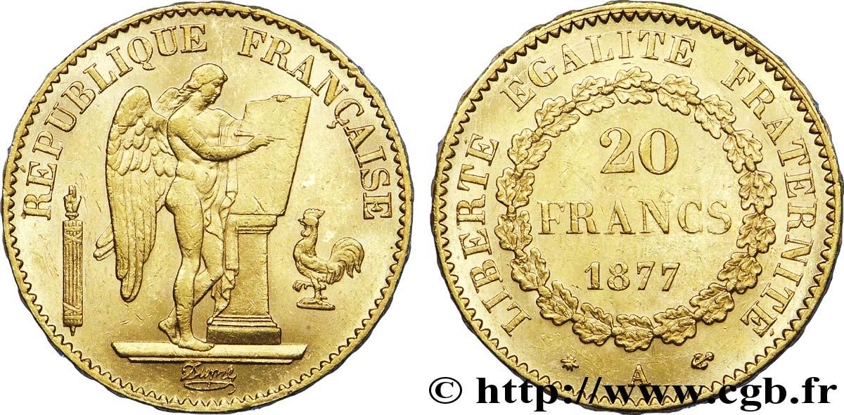 20 Francs Or Genie Troisieme Republique 1877 Paris F 533 5 V40 1279