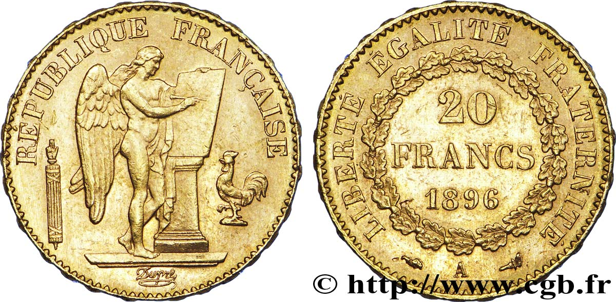 francs or genie troisieme republique different torche paris f sup v a