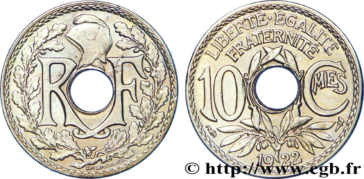 10 centimes Lindauer 1922  F.138/6 SUP