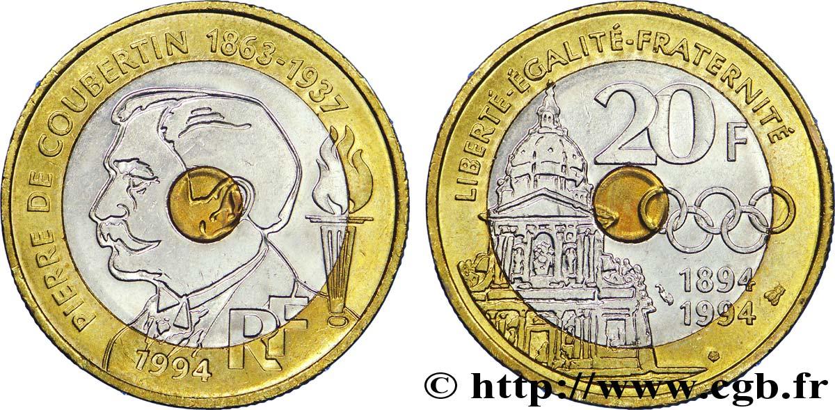20 Francs Pierre De Coubertin 1994 F4052 V402094 Moderne Münzen
