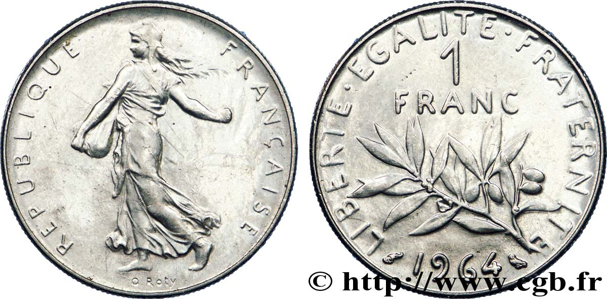 1 franc Semeuse, nickel 1964 Paris F.226/8 SUP