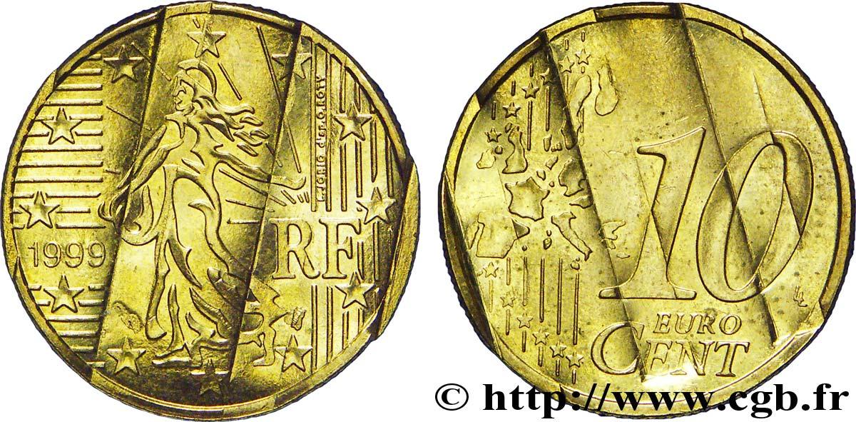Europäische Zentralbank 10 Centimes Deuro Premier Type Avec