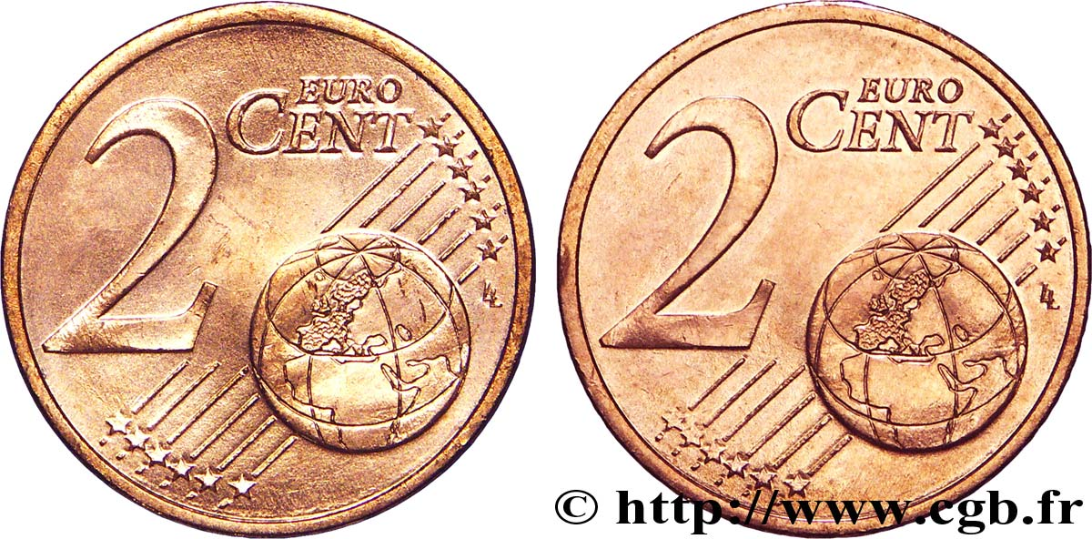 EUROPEAN CENTRAL BANK 2 centimes d'euro, double face commune n.d. MS