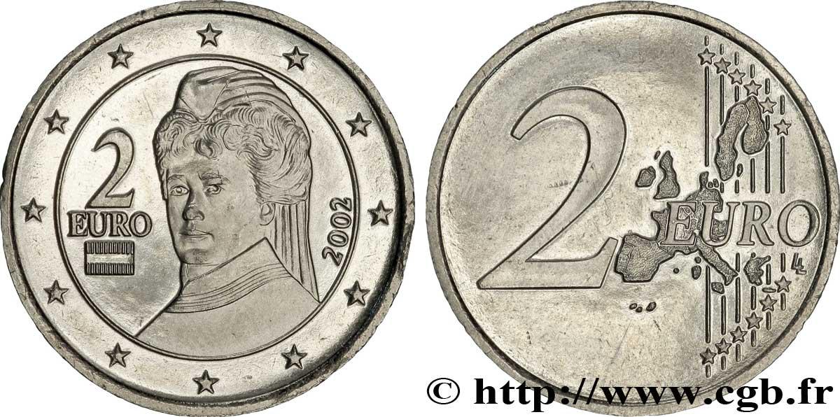 banque centrale europeenne 2 euro von suttner monom tallique tranche cannel e 2002 spl v50. Black Bedroom Furniture Sets. Home Design Ideas
