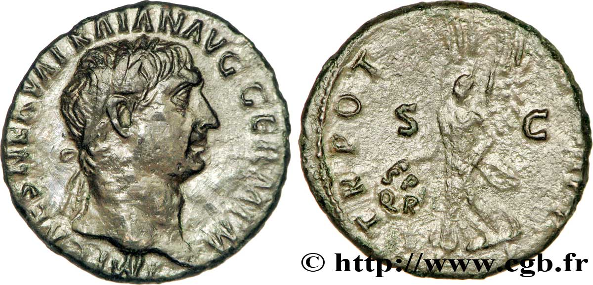 TRAJAN As, (MB, Æ 26) SUP