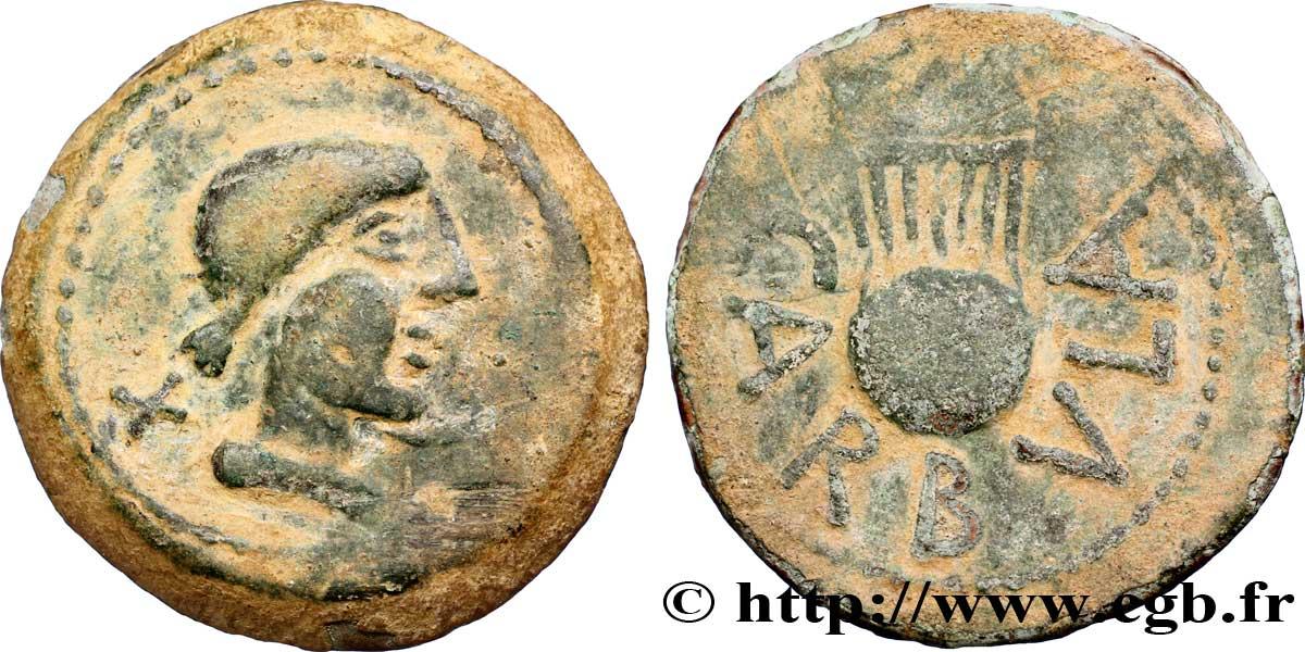 Monnaie grecque avec une lyre V53_0624