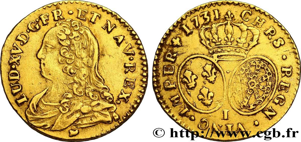 efb28ba7d05f28 LOUIS XV DIT LE BIEN AIMÉ Demi-louis d or dit aux lunettes 1731 Limoges
