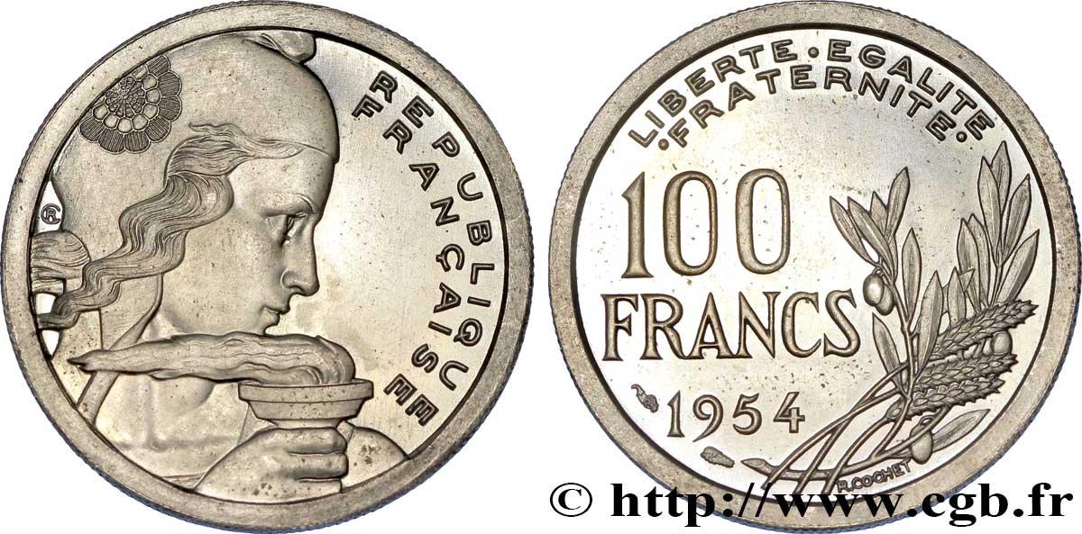 Pre Serie Sans Le Mot Essai De 100 Francs Cochet Listel Large 1954