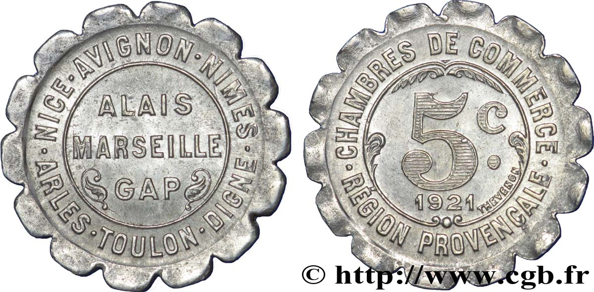 Chambres de commerce region provencale 5 centimes alais for Chambre de commerce italienne marseille