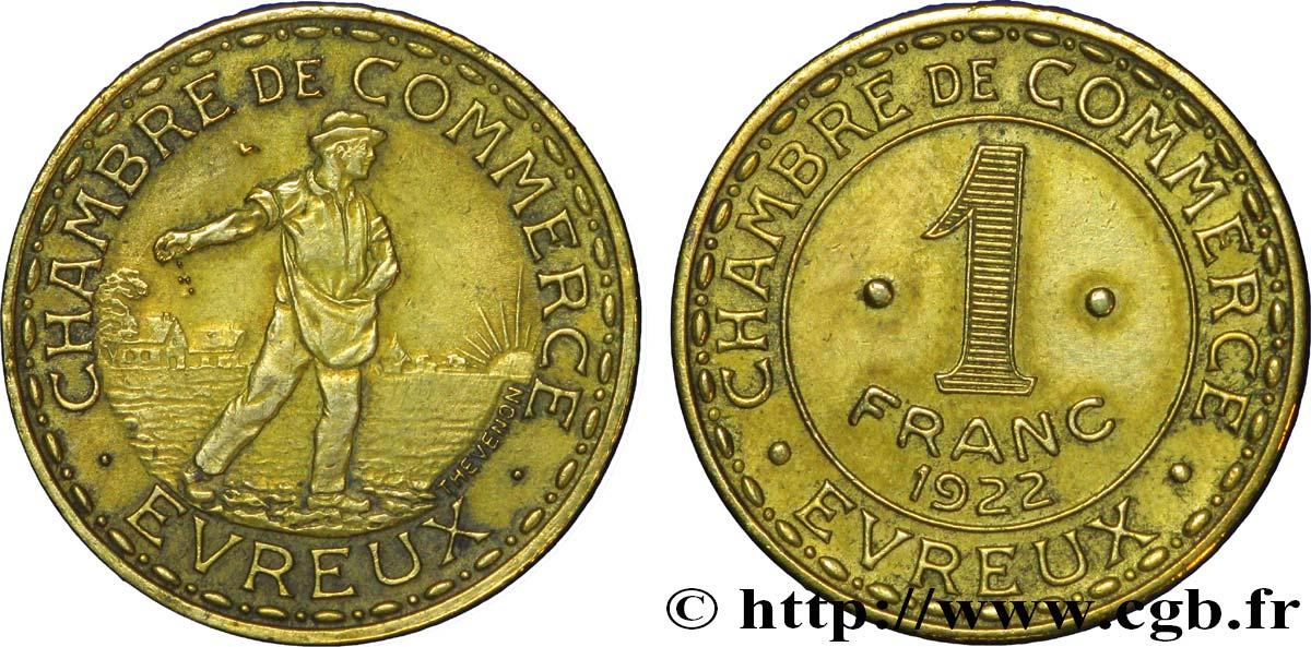 Chambre de commerce d evreux 1 franc evreux ttb fnc 237306 for Chambre de commerce evreux