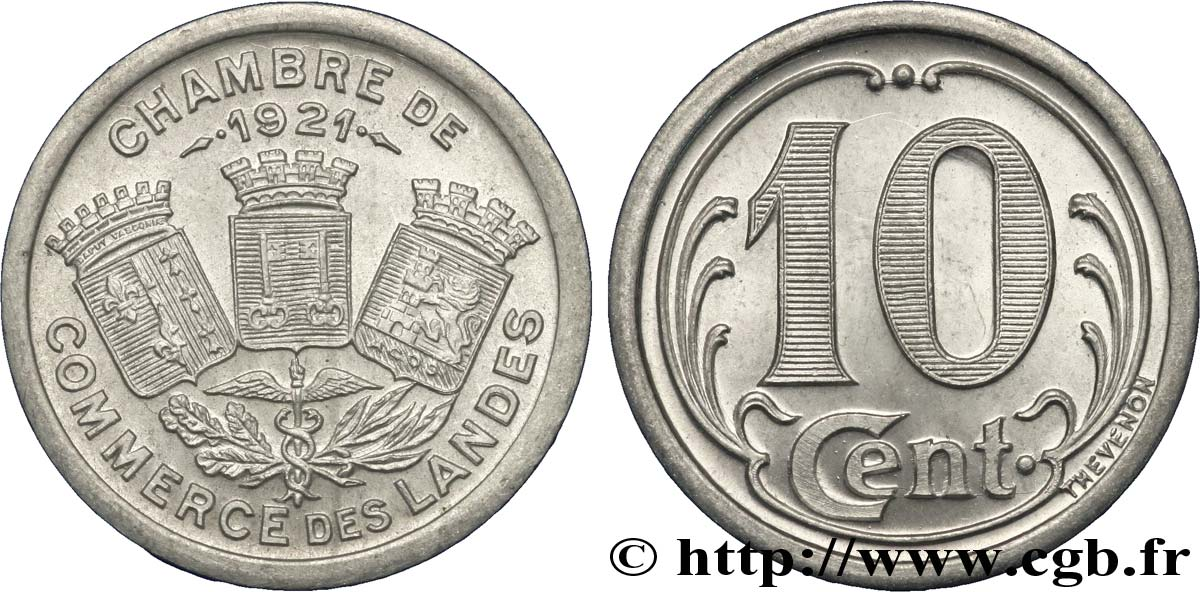Chambre de commerce des landes 10 centimes fnc 237561 notgeld for Chambre de commerce de tours