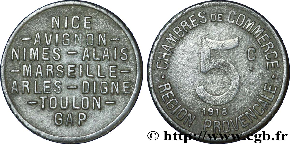 Chambres de commerce region provencale 5 centimes alais for Chambre des commerces nimes