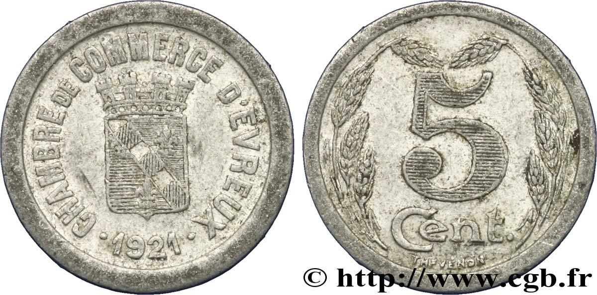 chambre de commerce d evreux 5 centimes evreux vf fnc