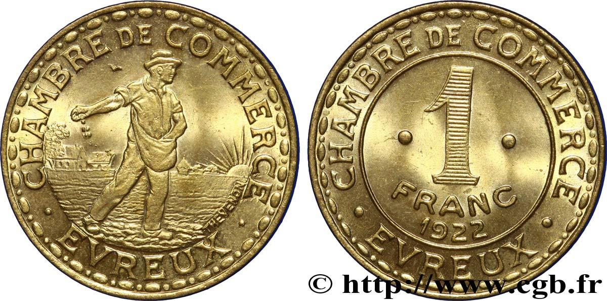 Chambre de commerce d evreux 1 franc evreux fnc 238957 for Chambre de commerce evreux