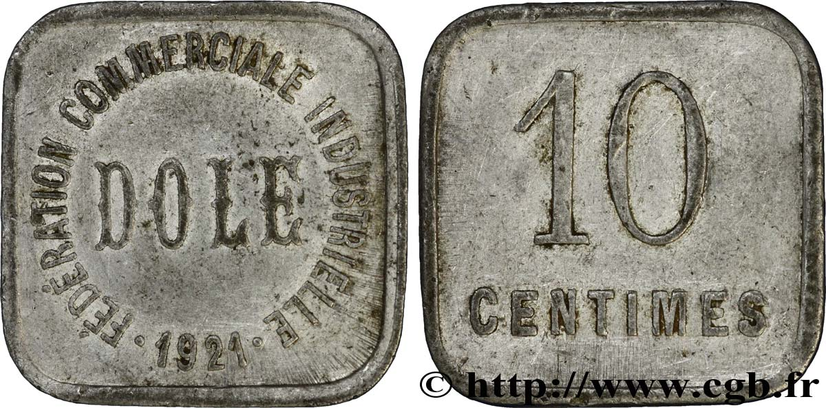 FEDERATION COMMERCIALE INDUSTRIELLE 10 Centimes TB