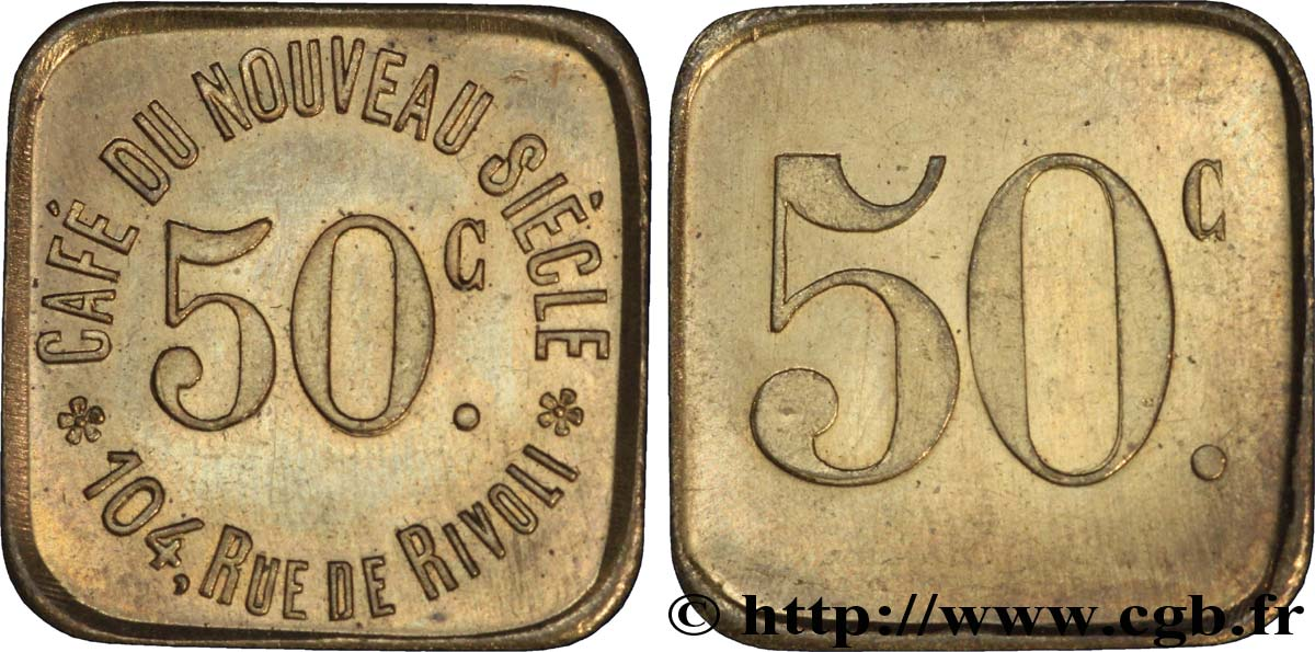 CAFE DU NOUVEAU SIECLE 50 Centimes SUP