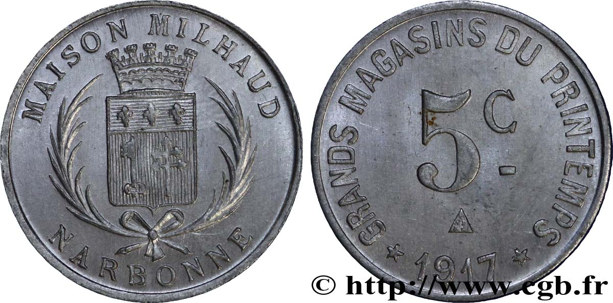 GRANDS MAGASINS DU PRINTEMPS - MAISON MILHAUD 5 Centimes SUP