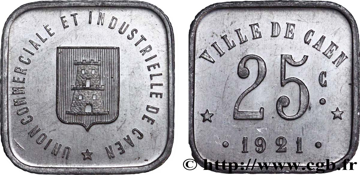 UNION COMMERCIALE ET INDUSTRIELLE DE CAEN 25 Centimes SUP