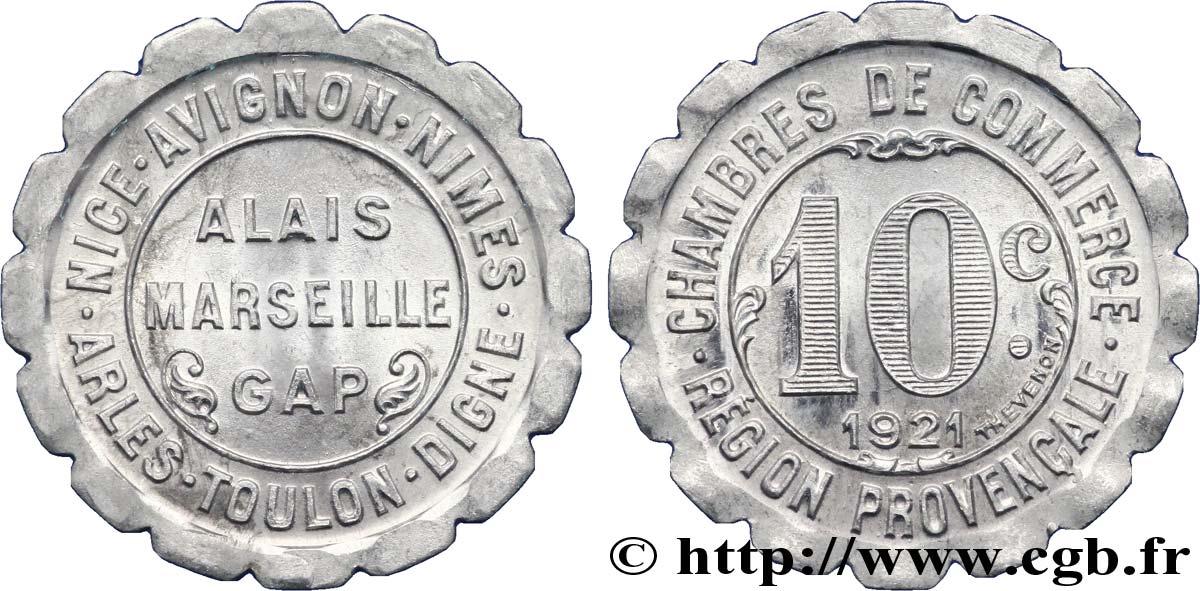 Chambres de commerce region provencale 10 centimes alais for Chambre des commerces nimes