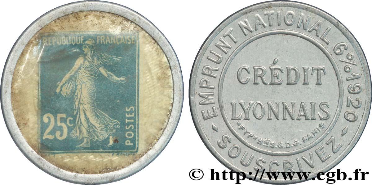 CREDIT LYONNAIS Timbre 25 Centimes