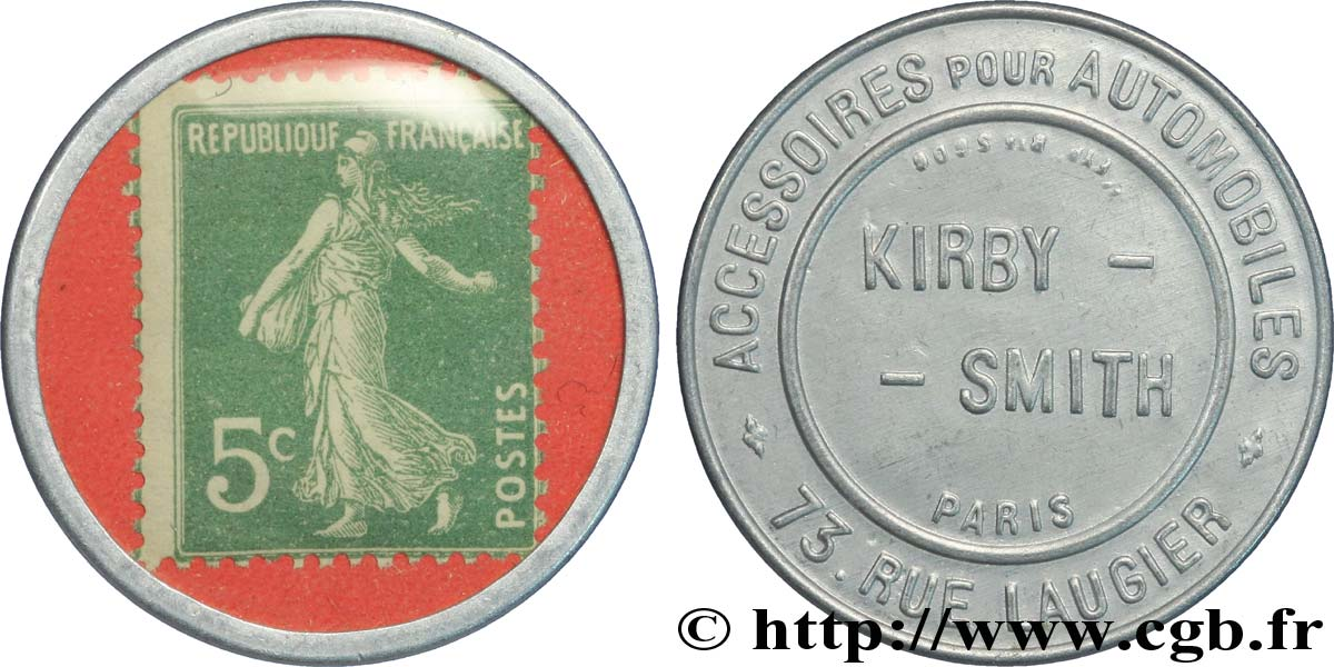 KIRBY - SMITH Timbre 5 Centimes SUP