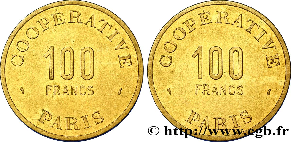 COOPERATIVE PARIS 100 Francs TTB