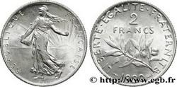 ARGENT – 2 Francs Semeuse FRANCE 8,35 Gr Argent Fin