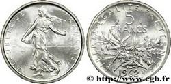 ARGENT – 5 Francs Semeuse FRANCE 10,02 Gr Argent Fin