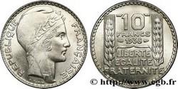ARGENT – 10 Francs Turin FRANCE 6,8 Gr Argent Fin
