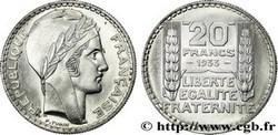 ARGENT – 20 Francs Turin FRANCE 13,6 Gr Argent Fin