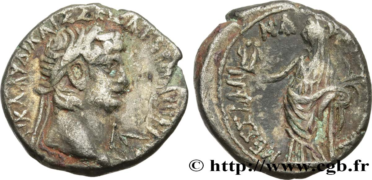 CLAUDIUS and MESSALINA Tétradrachme VF