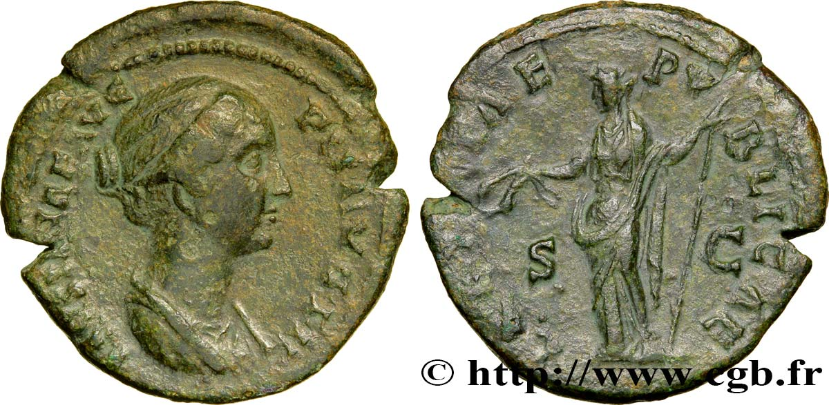 FAUSTINA MINOR Dupondius VF/XF