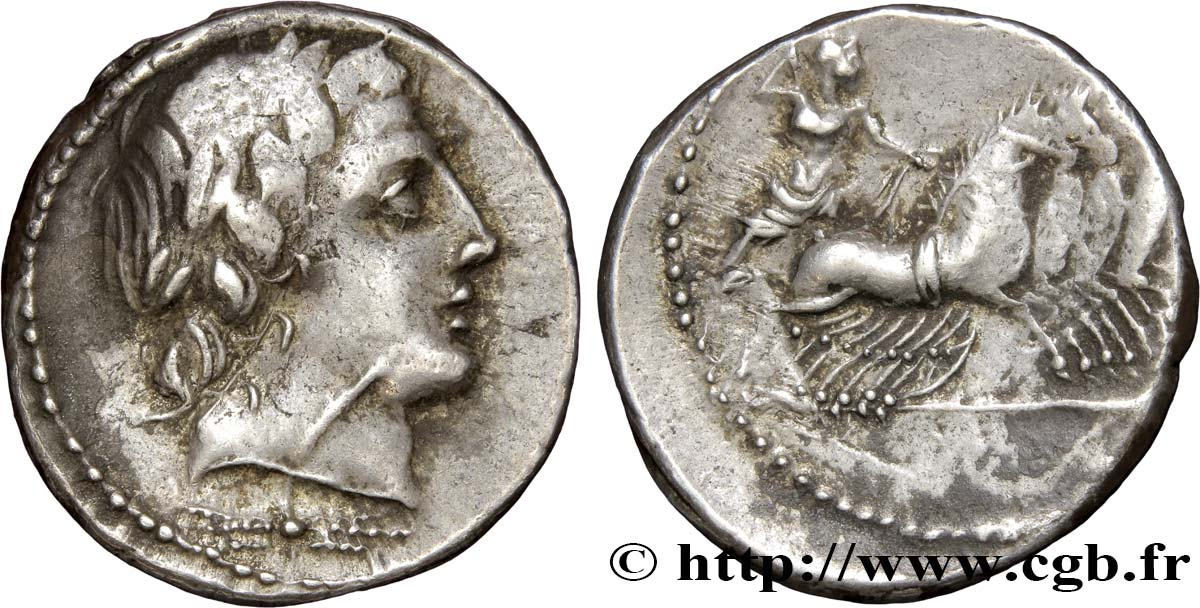 ROMAN REPUBLIC - ANONYMOUS Denier XF