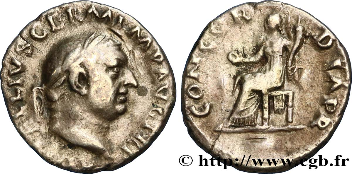 VITELLIUS Denier TB+