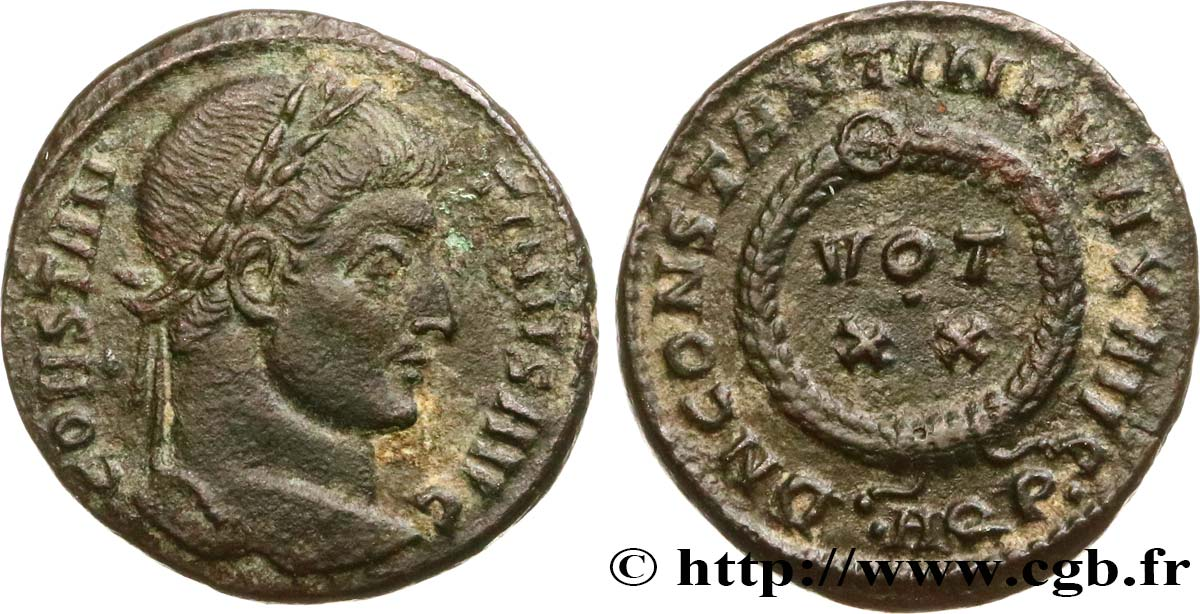 CONSTANTINE I THE GREAT Centenionalis ou nummus AU