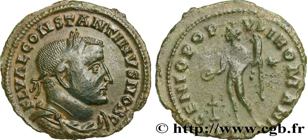 CONSTANTINE I THE GREAT Follis AU
