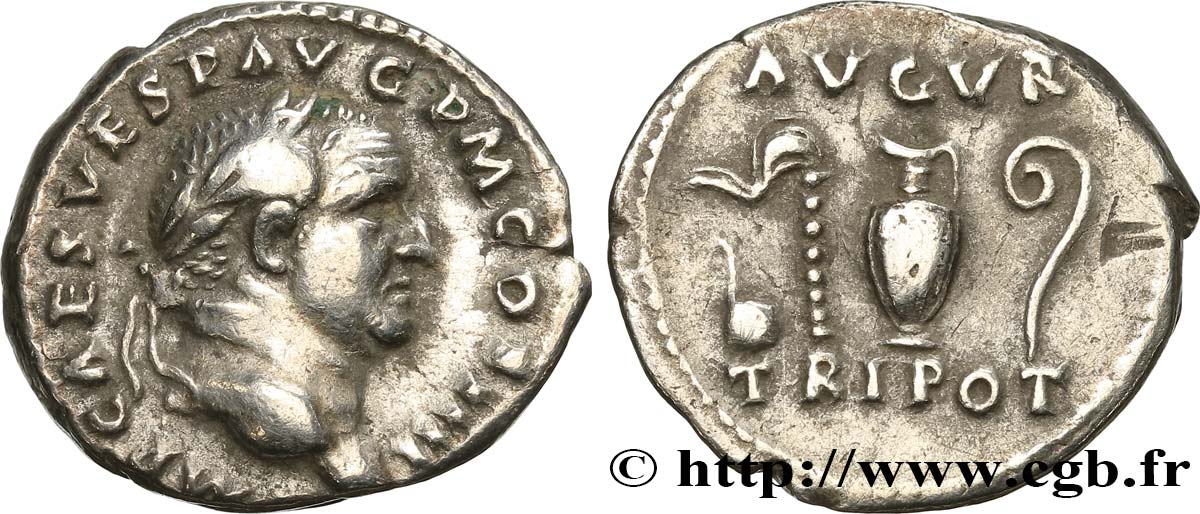 VESPASIAN Denier XF