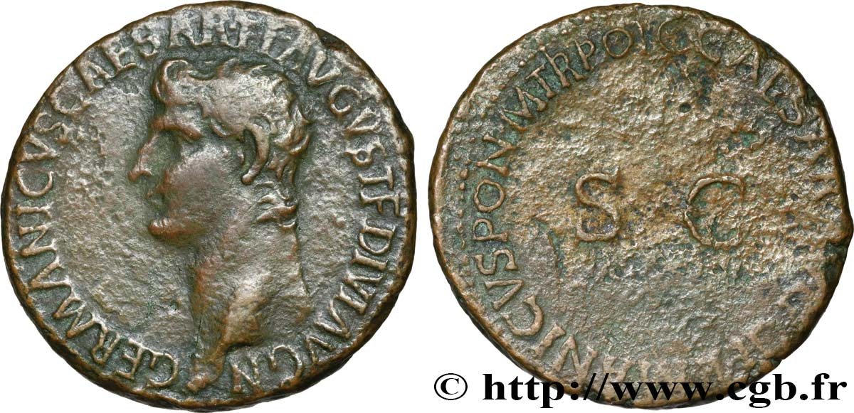 GERMANICUS As XF/VF