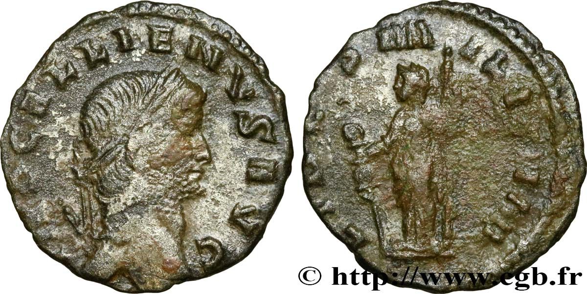 GALLIENUS Denier XF