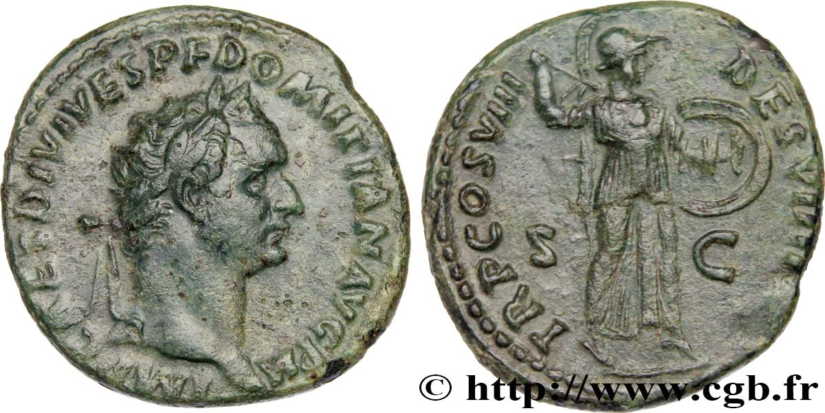 DOMITIANUS As XF/AU