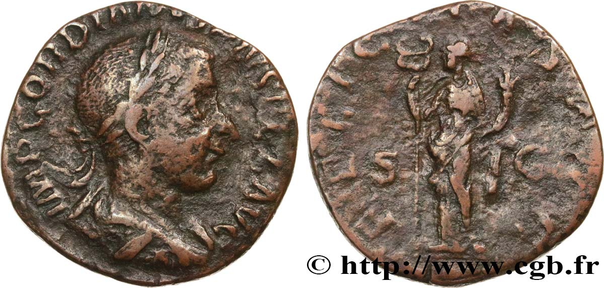 GORDIAN III Sesterce VF