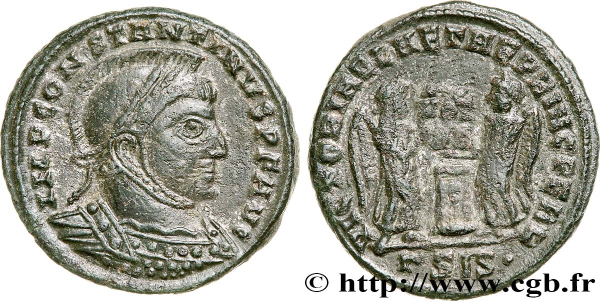 CONSTANTINE I THE GREAT Centenionalis ou nummus AU/XF