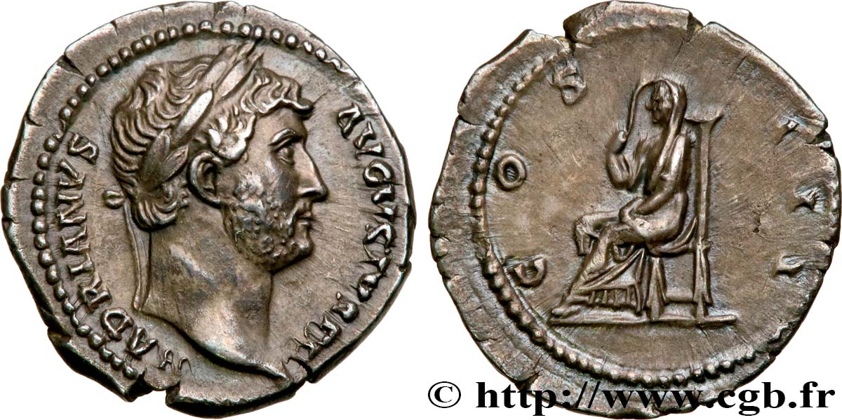 HADRIAN Denier MS