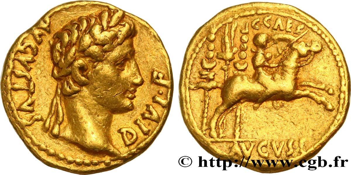 AUGUSTUS and CAIUS Aureus XF