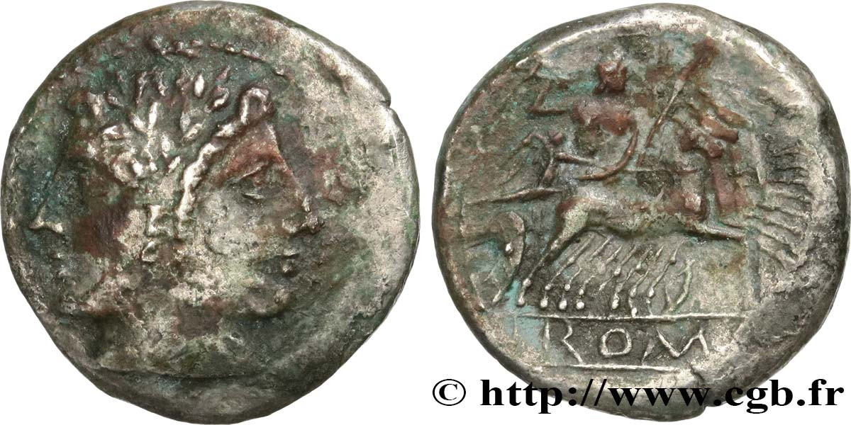 ROMAN REPUBLIC - ANONYMOUS Didrachme VF