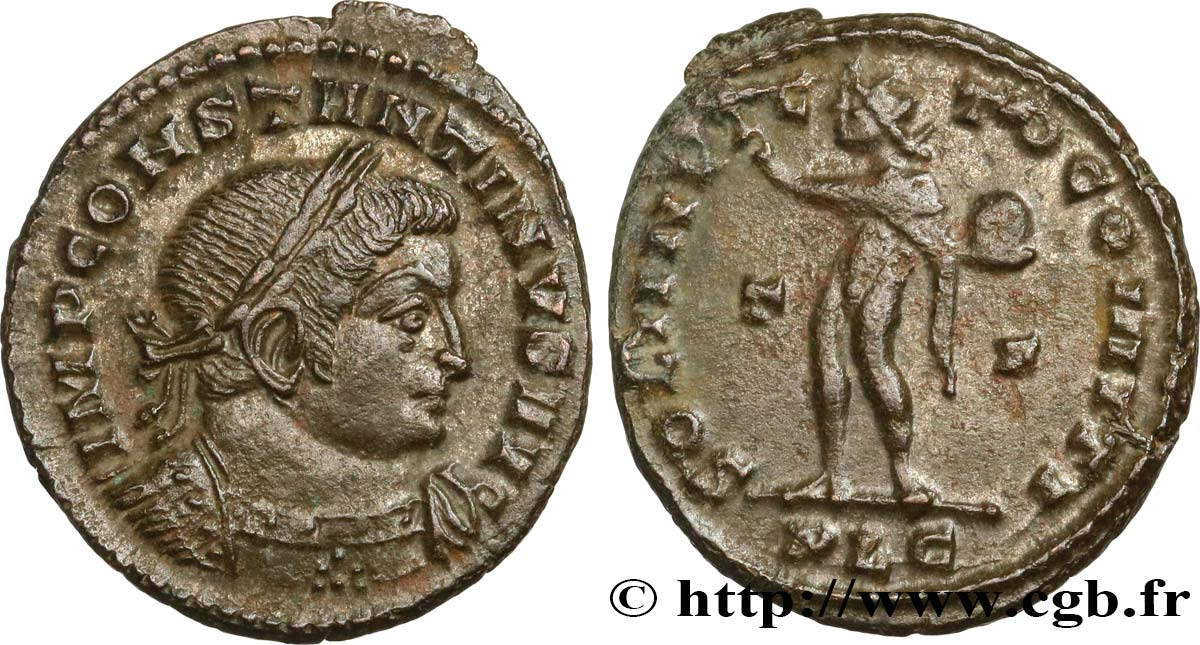 CONSTANTINE I THE GREAT Follis ou nummus AU/XF