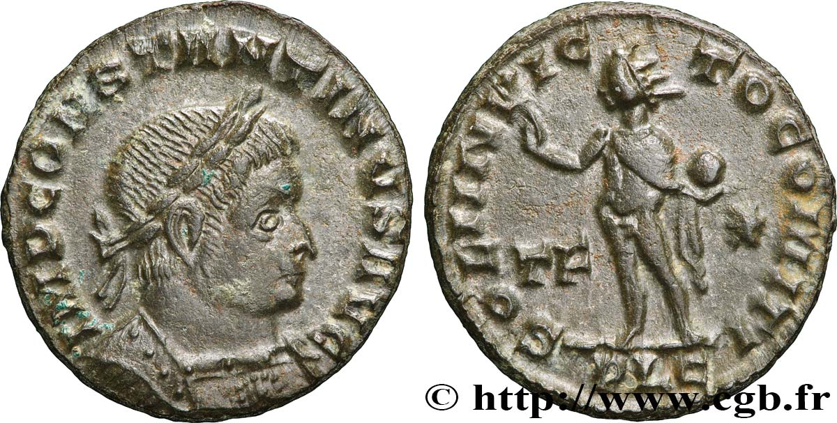 CONSTANTINE I THE GREAT Follis ou nummus AU/AU