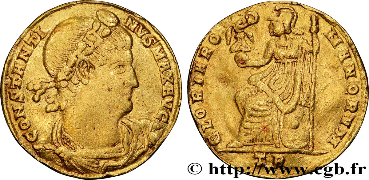 CONSTANTINE I THE GREAT Médaillon de deux solidi XF