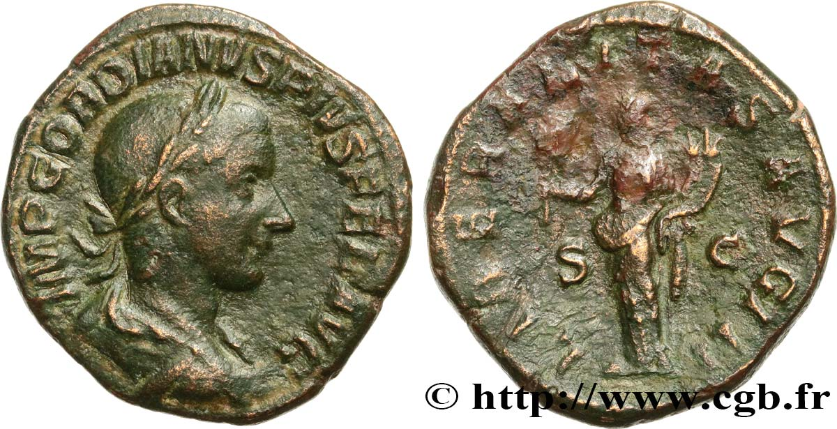 GORDIAN III Sesterce XF/VF